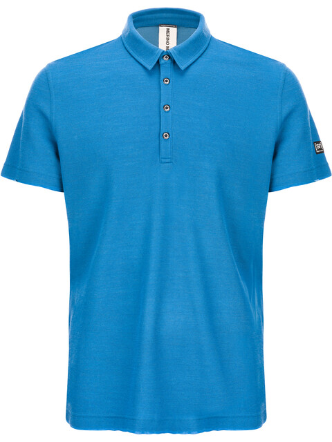 super.natural Piquet Polo Shirt Men vallarta blue